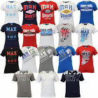 Mens T Shirt MAX Short Sleeved Jersey BRONX Top Crew Neck Cotton Summer Casual