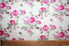 Vintage style rose cotton poplin ~ choice of lengths ~ ideal clothing crafts