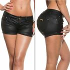 Women's Sexy Faux Leather Look Short with Rhinestone - XS / S / M / L / XL