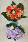 silk artificial rose carnation & gyp bush bunches