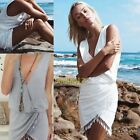 New Women's Boho Summer Sleeveless V-Neck Party Evening Dress Girl Beach Dress