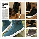 New Stylish Men's Casual High Shoes Sneakers Flattie Antislip Shoe Trainers - CB