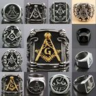 Masonic Freemasonry Mason Master Cocktail Stainless Steel Finger Ring Jewelry