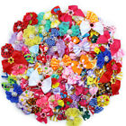 New 50pcs Mix Styles Pet Dog Hair Bows Varies for Holidays P