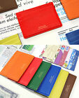 Flat Card Case Credit Business ID Card Money Clip Holder Pocket Storage Wallet