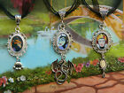 DISNEY VILLAINS CHARM NECKLACE MALEFICENT WICKED QUEEN SNOW WHITE SCAR LION KING