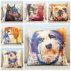 """Colorful Dogs Animal Cartoon Decor Throw Cushion Cover Pillow Case Square 18"""""""
