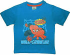 Boys Spider-Man T shirt 18-24 M up to 7-8 Y Flat Packed Great Gift 100% Cotton