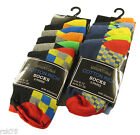 10 Pairs Of Kids Boys Multi Design Socks, Blue Grey Socks, Various Sizes, B351