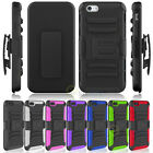 Holster Shell Case Cover Belt Clip w/ Kick-Stand for iPhone 4/4s/5/5s/6/6s Plus