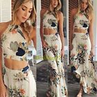 Nice Women Summer Boho Halterneck Long Maxi Evening Party Dress Girl Beach Dress