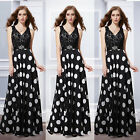 Ever Pretty Sexy Black Lace Maxi Evening Party Winter Formal Gown Dresses 08323