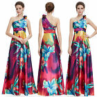 One Shoulder Ever Pretty Women's Satin Long Evening Formal Prom Gown Dress 09623