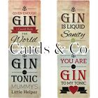 RETRO METAL WALL SIGN TIN PLAQUE VINTAGE FUNNY GIN AND TONIC GIFT BAR PUB LOUNGE