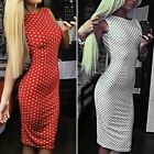 New Lady Summer Backless Sexy Slim Evening Cocktail Party Dress Prom Gown