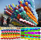 10/50/100 Twist Spiral Long Latex Balloons Wedding Birthday Party Decor Toy Gift