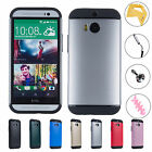 Ultra Slim Rugged Matte Armor Shockproof Hybrid Case Cover For HTC One M8 2014
