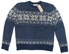 Ralph Lauren Mens Denim & Supply Blue Wool Knit Crewneck Sweater New S L XL