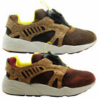 Puma Leather Suede Disc Cage Lux Opt 2 Mens Trainers Brown (356410 02 01)