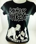BLK MINOR THREAT STRAIGHT EDGE PUNK ROCKABILLY HARDCORE EMO T-SHIRT