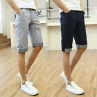 Fashion Mens Grid Plaids Casual Slim Fitted Capris Shorts Summer Hots Shorts