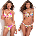 RELLECIGA Sexy Women Floral Push-up Padded Bra Bikini Set Bathing Swimsuit XS-XL