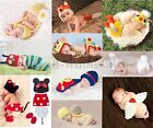 New Born Baby Girls Boys Crochet Knit Costume Clothes Photo Photography Prop Hat