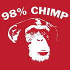 98% CHIMP T Shirt funny DNA science tee 13 colours! BlackSheepShirts