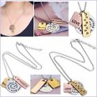New Fashion Letter Love Forever Believe Women Handmade Silver Necklace Pendant