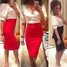 Womens Slim Short Sleeve V-Neck BodyCon Party Cocktail Pencil Prom Dress Gayly