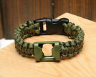New Men Girl Bottle Opener Survival Paracord Bracelet Outdoor Gear TB CA B2