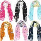 Lady Women Long Butterfly Winter Scarf Chiffon Warm Wraps Shawl Stole Pashmina