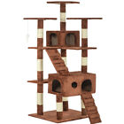 """New 73"""" Cat Tree Scratcher Play House Condo Furniture Toy Bed Post Pet House T07"""