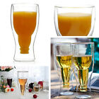 Creative Double Wall Beer Cup Mugs Winebottle Upside Down Bottle Glass Barware