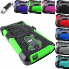 FOR LG PHONES G STYLO RUGGED ARMORED V3 HYBRID CASE COVER+CLIP HOLSTER+STYLUS