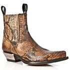 NEWROCK New Rock MENS Vintage Cowboy Boots Style M.7953 S7 Snake Brown