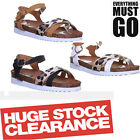 Womens Flat Sole Buckle Summer Ladies Fashion Open Toe Sandals Shoes UK Size 3 4