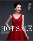L398  New Fashion Short Red Evening Dress Dinner Party Wedding Bridesmaid