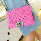 Women PU leather Knitting Cross Body Bags Lady Chain Shoulder Messenger Bag Z