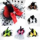CHIC New Bow Hair Clip Lace Feather Mini Top Hat Burlesque Party Fancy Dress