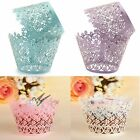 12 Pcs Filigree Snowflake Cup Cake Wrappers Collars Birthday Party Decoration