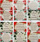CHRISTIAN FAITH CHRISTMAS SCRIPTURE STICKERS CARD SEALS Lot of 6 - BEAUTIFUL!