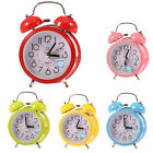 Fashion Small Double-Bell Alarm Clock Night Light Children Mini Quartz Clock hot