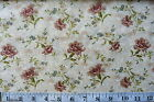SALE CLEARANCE METRE - DAPHNE - FLOWERS ON PINK 100% cotton patchwork fabric