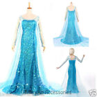 K77 Adult Womens Frozen Snow Queen Elsa Costume Cosplay Party Gown Fancy Dress