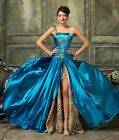 Blue Leopard Sexy Evening Formal Party Cocktail Bridesmaid Prom Ball Gowns Dress