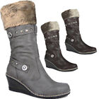 Salt & Pepper  Womens Medium Wedge Boots Ladies knee High Wedges UK 3 - 8