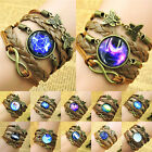 Fashion Retro Starry Sky Angel Time Gem Multi Composite Woven Bracelet