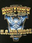 New Black T-Shirt with USAF United States Air Force Victory Shield Des $15.95 USD on eBay