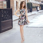 Ever Pretty Fashion Printed Short Casual Summer Cocktail Party Gown Dress 05212